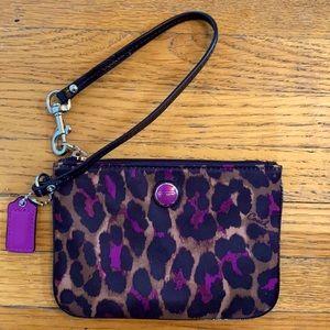 Coach Leopard Print Wristlet